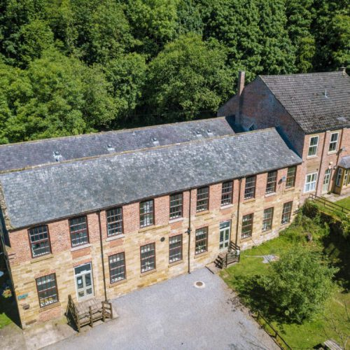 aerial photo of Cote Ghyll Mill (YHA)