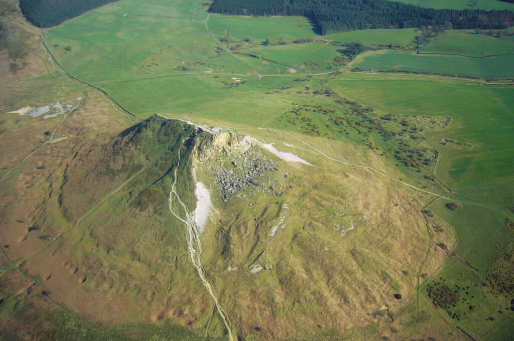 Aerial photo of Roseberry Topping